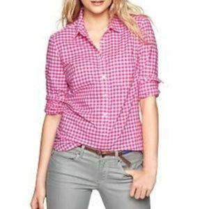 Pink Gingham Shirt by GAP